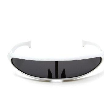 Cyclops Sunglasses Shades Sunnies Mirror Dark Space Robot Alien Shield Costume