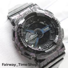 ขาย ซื้อ ออนไลน์ D Ziner นาฬิกาข้อมือแนว Sport ชาย 2 ระบบ Analog Digital สายยางลายสายฟ้า กันนํ้า100 พร้อมกล่องหกเหลี่ยมสีดำ รุ่น Dzf 001