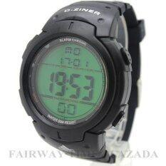 ขาย ซื้อ D Ziner นาฬิกาข้อมือแนว Sport สายยางทนทานยืดหยุ่น ระบบ Digital กันนํ้า100 รุ่น Dz02 002