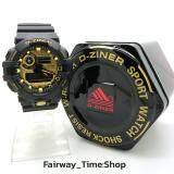 D Ziner นาฬิกาข้อมือแนว Sport ชาย 2 ระบบ Analog Digital กันนํ้า100 พร้อมกล่อง เป็นต้นฉบับ