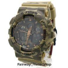 ขาย D Ziner นาฬิกาข้อมือแนว Sport ชาย 2 ระบบ Analog Digital กันนํ้า100 สายยางพิมพ์ลายพราง Military ถูก