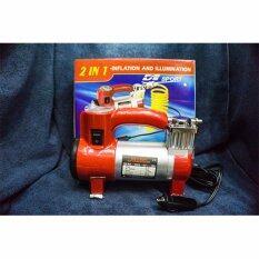 ซื้อ D1 Sport Air Compressor ปั๊มลมรถยนต์ Mini 12 V สีเเดง ออนไลน์