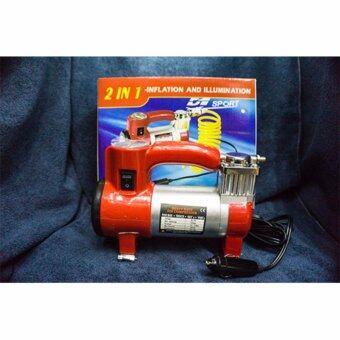 d1 sport Air compressor ปั๊มลมรถยนต์ Mini 12 V (สีเเดง)