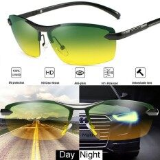 ซื้อ Day Night Vision Men S Polarized Sunglasses Driving Pilot Mirror Sun Glasses Intl ถูก ใน จีน