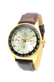 Debor นาฬิกาข้อมือผู้ชาย สีน้ำตาล เงิน สายหนัง Debor ถูก ใน ไทย