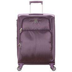 ราคา Delsey กระเป๋าเดินทาง แบบล้อลาก 4 ล้อ ขนาด 24 65 Cm รุ่น Expert Purple Delsey