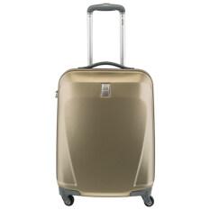 ราคา Delsey Initlale กระเป๋าเดินทางขนาด 21 นิ้ว 55 Cm แบบขึ้นเครื่องล้อลาก 4 ล้อ Beige เป็นต้นฉบับ Delsey