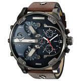 ราคา Diesel Men S Dz7314 The Daddies Series Stainless Steel Watch With Brown Leather Band Intl ออนไลน์ เกาหลีใต้