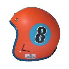 ซื้อ Diiff หมวกกันน็อควินเทจเต็มใบ สีส้ม ฟ้า ถูก