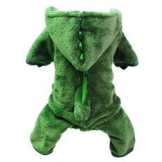 ไดโนเสาร์เปลี่ยนเป็นเสื้อผ้าสัตว์เลี้ยงหนาอบอุ่นสุนัขเสื้อผ้าเครื่องแต่งกายขนาดเอส-นานาชาติ By Miss Lan.