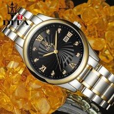 ซื้อ Dita Man Watch นาฬิกาข้อมือ ผู้ชาย สายเหล็ก แฟชั่น ลดราคาถูก กันน้ำ หน้าปัดดำ รุ่น (หน้าปัดสีดำขอบทอง) Dita ออนไลน์