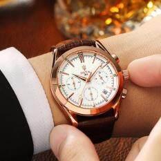 ราคา ราคาถูกที่สุด Dita Quartz Waterproof Arabic Digits หรูหรานาฬิกาข้อมือ สายหนัง กันน้ำ รุ่น Lp02 White
