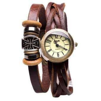 DM นาฬิกาพันข้อมือ Cross Vintage Leather Strap II CCQ สายหนัง - Brown