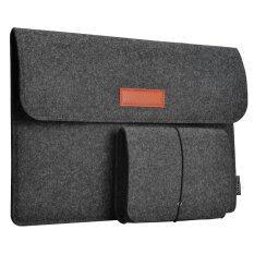 ราคา Dodocool 13 3 นิ้ว Felt Sleeve ใส่กรณีป้องกันกระเป๋า 4 ช่องกระเป๋าเมาส์สำหรับ Apple 13 Macbook Air 13 Macbook Pro 13 Macbook Pro พร้อมจอแสดงผล Retina และ 13 13 3 นิ้วแล็ปท็อปและอื่นๆสีเทาเข้ม เป็นต้นฉบับ