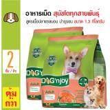 ราคา Dog N Joy อาหารเม็ดสุนัข สูตรปลาแซลมอน บำรุงผิวหนังและขน สำหรับสุนัขโตทุกสายพันธุ์ ขนาด 1 3 กิโลกรัม X 2 ถุง ที่สุด