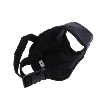 Dog Puppy Pet Adjustable Mask Bark Bite Mouth Muzzle Grooming Anti Stop Chewing(Black,1#) - intl