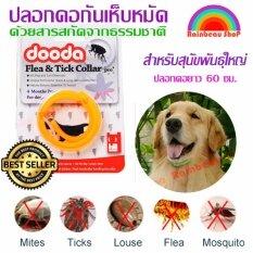 Dooda Flea & Tick Collar Pro ปลอกคอกันเห็บ หมัด ป้องกันกำจัดเห็บหมัด ยุง และแมลงที่มากวนสัตว์เลิ้ยงแสนรัก ด้วยสารสกัดจากธรรมชาติ เหมาะสำหรับหมา แมว สุนัข ไม่เป็นอันตรายต่อสัตว์เลิ้ยง ใช้งานได้ 4 เดือน (สีส้ม สำหรับสุนัขพันธ์ใหญ่) By Rainbeau Shop.