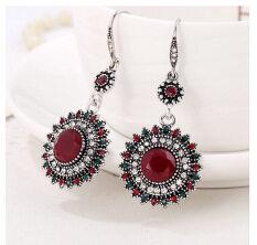 ขาย Drop Earrings Ethnic Vintage Sun Flower Bohemia Dangle Earrings Statement Women Jewelry Red Intl เป็นต้นฉบับ