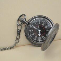 ราคา Dual Display Gift Retro Quartz Machinery Men Antique Black Roman Pocket Fob Watch Man Hour Watches Wholesale Good Short Chain Intl Unbranded Generic ใหม่