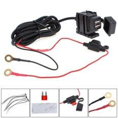 โปรโมชั่น Dual Usb 12V Waterproof Motorcycle Handlebar Power Charger Supply Port Socket For Phone Gps Mp4 Intl Unbranded Generic ใหม่ล่าสุด