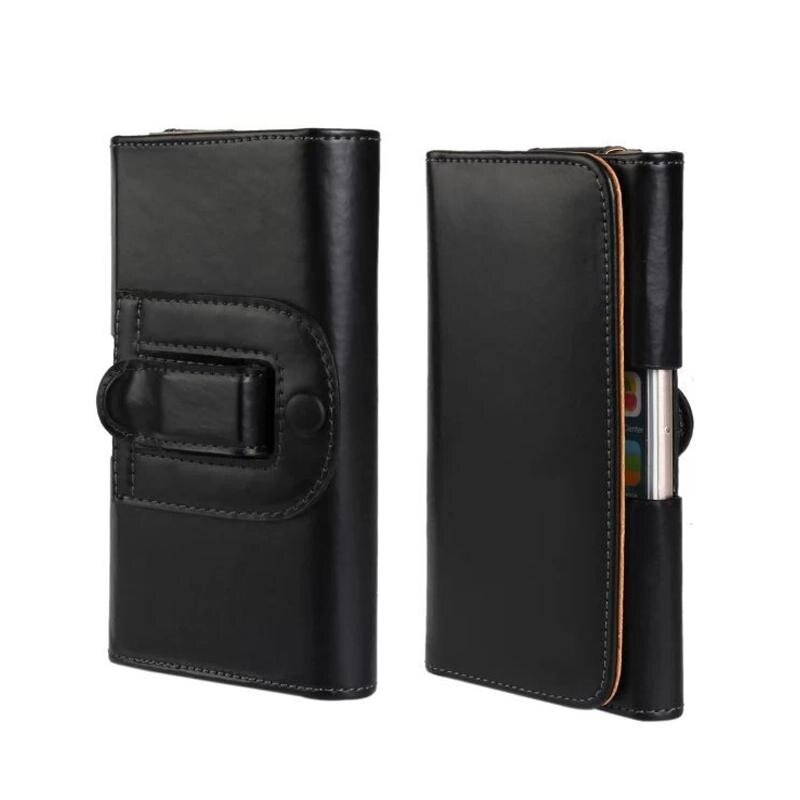 Durable Dirt-resistant PU Leather Belt Clip Pouch for iPhone 6 Plus Case Holster - intl