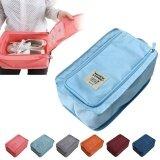 ขาย Eachgo Portable Waterproof Lightweight Nylon Mesh Tote Shoes Storage Pouch Bag For Travel Use Blue Intl ใหม่