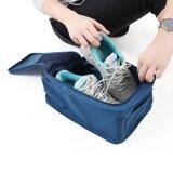 ราคา Eachgo Portable Waterproof Lightweight Nylon Mesh Tote Shoes Storage Pouch Bag For Travel Use Deep Blue Intl ราคาถูกที่สุด
