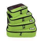 โปรโมชั่น Ecosusi กระเป๋าจัดระเบียบ กระเป๋าจัดเก็บอุปกรณ์ในห้องน้ำ กระเป๋าเครื่องสำอาง แบบมีด้านข้าง Breathable Travel Bag 4 Set Packing Cubes Luggage Packing Organizers With Shoe Bag Fit 23 Carry On Suitcase Green Intl Ecosusi ใหม่ล่าสุด