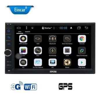 Eincar Double Din Car Stereo Android 6.0 Marshmallow with 7 '' เครื่องเล่นวิทยุติดรถยนต์ GPS Navigation สำหรับรองรับรถยนต์ Bluetooth / WiFi / ระบบควบคุมพวงมาลัย / 1080P / OBD2 / 3G / 4G