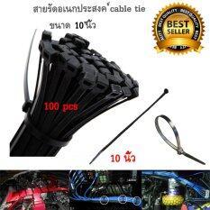 ราคา เคเบิ้ลไทร์ Cable Tie สายรัดเคเบิ้ลไทร์ หนวดกุ้ง ขนาด 10 นิ้ว สีดำ