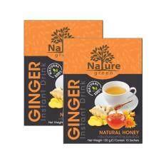 ราคา เครื่องดื่มขิงผงสำเร็จรูป ผสมน้ำผึ้ง ตรา เนเจอร์กรีน แพ็ค 2 กล่อง Ranong Tea เป็นต้นฉบับ