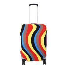 ขาย Elastic Dust Proof Travel Suitcase Protective Cover Luggage Colorful Wavy S18 22 Intl ถูก