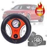 ซื้อ Elit ปั้มลมไฟฟ้าสำหรับรถยนต์ แบบพกพา รูปล้อรถ Air Pump 260Psi 12V Black Orange ใหม่