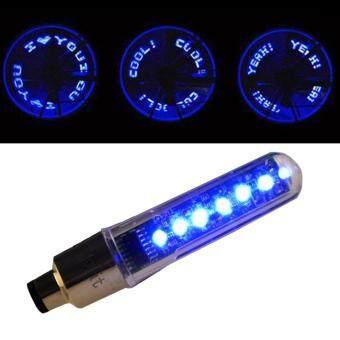 TML จุกลมไฟ LED ตัวอักษร ติดล้อ จักรยาน มอเตอร์ไซด์ รถยนต์ LED Bike Bicycle Motorcycle Car Tire Wheel (Blue)