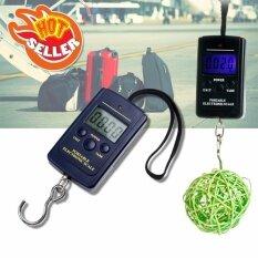 Elit เครื่องชั่งน้ำหนัก เครื่องชั่งกระเป๋า ดิจิตอล แบบพกพา Electronic Luggage Scale Blacklight 40kg/10g รุ่น Yw011 (black).