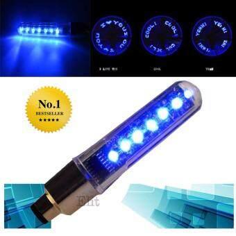 Elit จุกลมไฟ LED ตัวอักษร ติดล้อ จักรยาน มอเตอร์ไซด์ รถยนต์ LED Bike Bicycle Motorcycle Car Tire Wheel (Blue) 4 ชิ้น