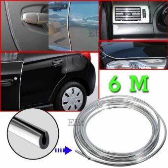 Elit ยางอลูมิเนียมตกแต่งขอบภายนอก ภายในรถยนต์ ขนาด 7 มิลลิเมตร ยาว 6 เมตร (สีเงิน) Car Edge Strip 7mm. 6m