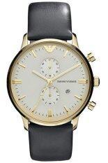 ราคา Emporio Armani นาฬิกาข้อมือชาย สีดำ สายหนัง รุ่น Ar0386 Emporio Armani เป็นต้นฉบับ