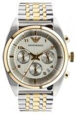 ราคา ราคาถูกที่สุด Emporio Armani นาฬิกาข้อมือผู้ชาย สายสแตนเลส รุ่น Ar0396 สีเงิน
