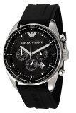 ราคา Emporio Armani นาฬิกาข้อมือผู้ชาย สายเรซิ่น รุ่น Ar0527 Black เป็นต้นฉบับ Armani