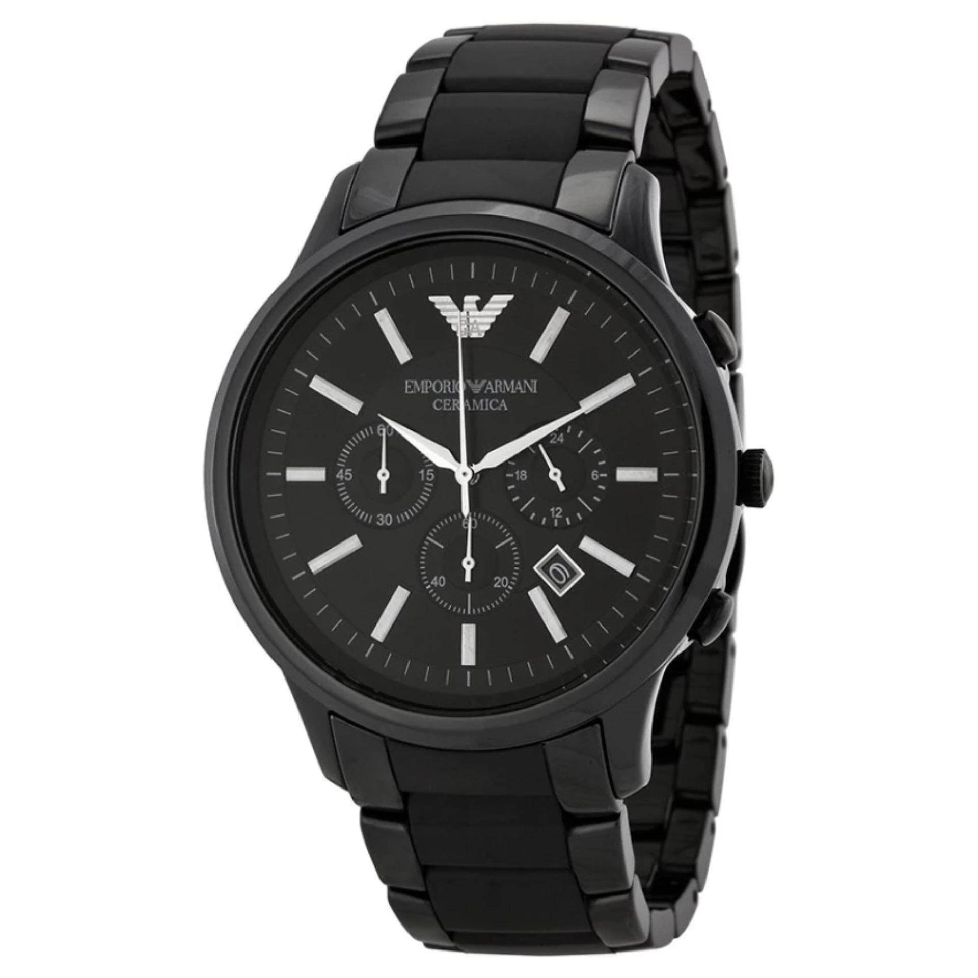 Emporio Armani นาฬิกา AR1451 Black Ceramica Mens Watch