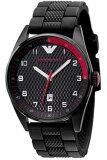 ราคา Emporio Armani นาฬิกาข้อมือผู้ชาย สายซิลิโคน รุ่น Ar5892 Black Red ราคาถูกที่สุด