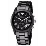 โปรโมชั่น Emporio Armani Chronograph Black Dial Black Ceramic Men S Watch Ar1400 Emporio Armani