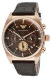 ซื้อ Emporio Armani Chronograph Watch นาฬิกาผู้ชาย สีน้ำตาล สายหนัง รุ่น Ar0371 ถูก