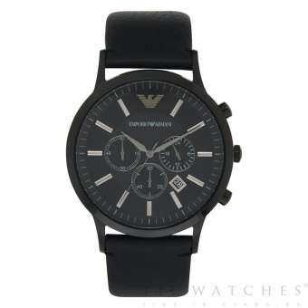 นาฬิกาข้อมือผู้ชาย Emporio Armani Sportivo Chronograph Leather Men's Watch