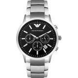 Emporio Armani Gents Ar2434 Round Case Black Dial Chronograph ใหม่ล่าสุด