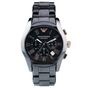 Emporio Armani Men's AR1410 Ceramica Black Stainless Steel Watch