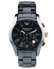ซื้อ Emporio Armani Men S Ar1410 Ceramica Black Stainless Steel Watch ออนไลน์ กรุงเทพมหานคร