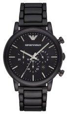 ราคา Emporio Armani นาฬิกาข้อมือ Men S Ar1895 Classic Analog Display Analog Quartz Black Watch ใหม่