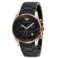 ซื้อ Emporio Armani Men S Ar5905 Stainless Steel Quartz Watch With Black Dial ถูก กรุงเทพมหานคร